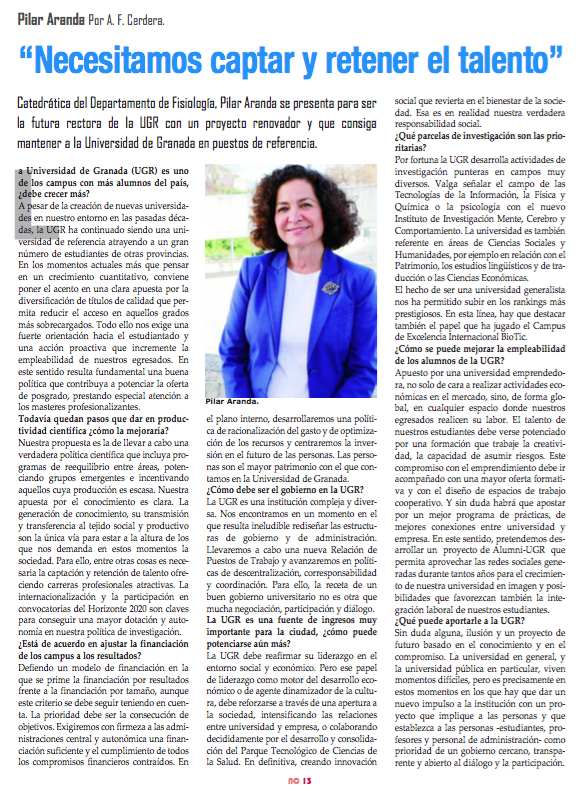 Entrevista a Pilar Aranda en Nova Ciencia