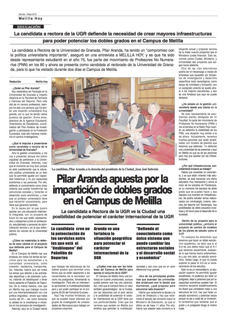 Melilla Hoy. 1 de mayo